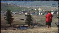 Kaprun, Austria in the 1960s (vintage 8 mm amateur film) Stock Footage