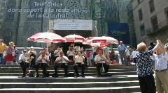 Barceloan Sardana band Stock Footage