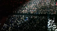 Numbers of spectators in a concert hall Stock Footage
