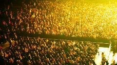 review of numbers of people in concern hall - stock footage