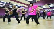 Stock Video Footage of Girls dance in mirror dancing room