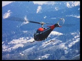 Helicopter, Austrian Alps, 1960s (vintage 8mm film) Stock Footage