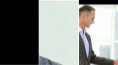 Montage footage showing a company with men working hard Stock Footage