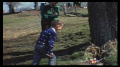 Searching easter eggs (vintage 8 mm amateur film) Stock Footage