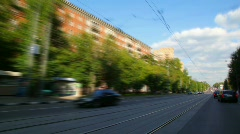Timelapse car driving in city Stock Footage