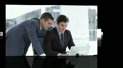 Business team hard at work - stock footage