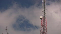 Microwave Radio Telecommunications Towers Seattle Queen Anne Cell Phone Network  Stock Footage