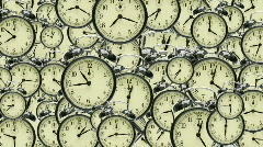 many many clocks - stock footage