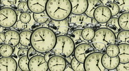 Stock Video Footage of many many clocks