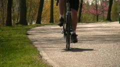 People Riding Bikes Cyclists Ride Bikes Riders Bicycles Bike Path  Stock Footage