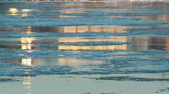 ice on river - stock footage