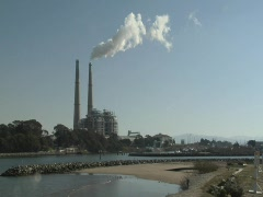 Natural Gas Power Plant Stock Footage