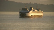Stock Video Footage of Seattle Ferry