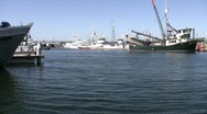 Stock Video Footage of Commercial and private boats at Seattle's Fisherman's Terminal Harbor