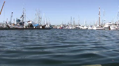 Commercial Fishing Boats at Seattle's Fisherman's Terminal Harbor Ocean Industry Stock Footage