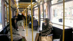 Journey on the Luas 2 Stock Footage