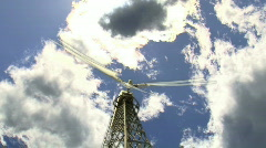 Wind Turbine with Timelapse Clouds Stock Footage