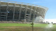 World cup soccer stadium cape town Stock Footage