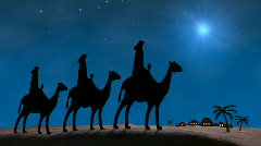 Bethlehem Christmas Wise Men Stock Footage