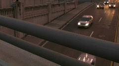 Traffic under overpass Stock Footage