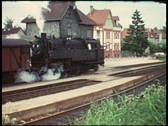 Last day of steam locomotive (vintage 8 mm amateur film) Stock Footage