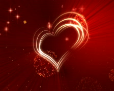 Graceful scarlet background by Valentine's Day, vj PAL Stock Footage