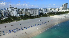 Aerial South Beach, Miami, Florida Stock Footage