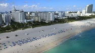 Stock Video Footage of Aerial South Beach, Miami, Florida