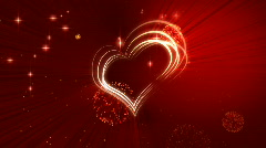 Graceful scarlet background by Valentine's Day, vj HD Stock Footage