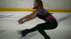 Figure skating sit spin02 Stock Footage