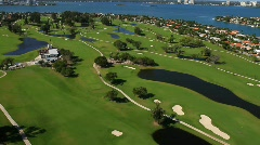 Stock Video Footage of Golf Course Aerial