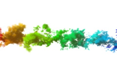 Multi-coloured smoke (clouds) on a white background NTSC - stock footage