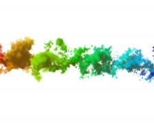 Multi-coloured smoke (clouds) on a white background PAL Stock Footage