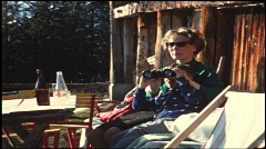 Family, holidays in Austria, 1960s (vintage 8 mm amateur film) Stock Footage