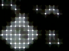 Blinking LED Light Sequencer 6 Stock Footage