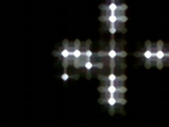 Blinking LED Light Sequencer 12 Stock Footage