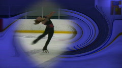 Figure skating layback with swirl slow mo Stock Footage