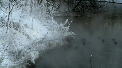 mist over river - stock footage