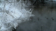 Mist over river Stock Footage