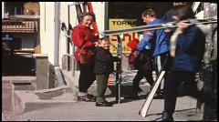 Ski holidays in Austria (vintage 8 mm amateur film) Stock Footage