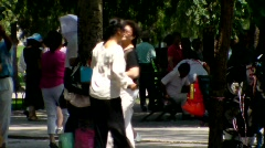 Ballroom Dance in Park 4 - BeiJing China Stock Footage