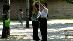 Ballroom Dance in Park 2 - BeiJing China Stock Footage