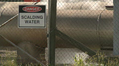 Scalding water sign Stock Footage