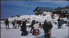 Ski holidays in Kaprun, Austria (vintage 8 mm amateur film) Stock Footage