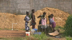 Africa water famine  - stock footage