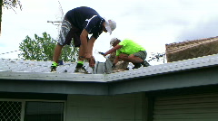 Roof insulation 2 Stock Footage