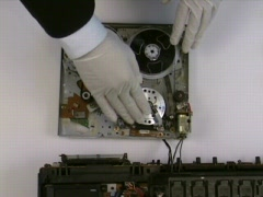 VCR Head Tape Scratch 2 Stock Footage