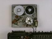 VCR Head Tape Adjust Stock Footage