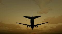 airbus landing - stock footage