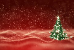 Christmas Tree In Showfield Red NTSC - stock footage